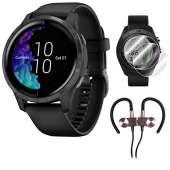 Garmin Venu Amoled GPS Smartwatch (Black)