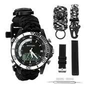 Survival Sport Paracord Watch - BLACK