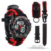 Survival Sport Paracord Watch - RED