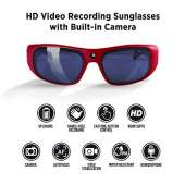 GoVision Apollo 1080p HD Camera Glasses - Red