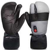 Savior Heated Gloves for Men and Women - XL, Black/Grey