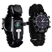 Survival Sport Paracord Watch - BLACK/RED
