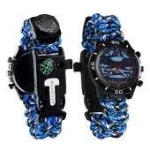 Survival Sport Paracord Watch - BLUE