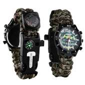 Survival Sport Paracord Watch - CAMO GREEN