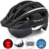 VICTGOAL Bike Helmet (Black White)