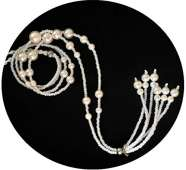 Bluetooth Headphones Stereo Necklace - Pearls 4