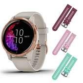 Garmin Venu GPS (Light Sand/Rose Gold, Berry/Pink/Teal)