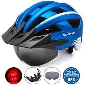 VICTGOAL Bike Helmet (Metal Blue)