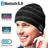 Bluetooth Beanie Hat, Best Gifts for Men/Women Upgraded Bluetooth 5.0 Unisex Knit Bluetooth Hat Built-in HiFi Stereo Speaker Music Beanie, Best Birthday Gifts Wireless Bluetooth Smart Beanie hat