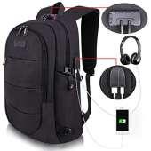 Tzowla Travel Laptop Backpack - BLACK