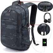Tzowla Travel Laptop Backpack - BLUE CAMO