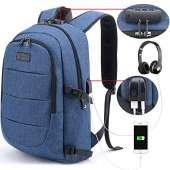Tzowla Travel Laptop Backpack - BLUE