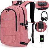 Tzowla Travel Laptop Backpack - RED