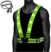 Atlecko 360° Rechargeable LED Running, Cycling, Hiking Reflective Vest