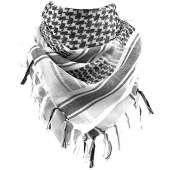 BioScarf Alt - 100% Cotton Military Shemagh Tactical Desert Keffiyeh Head Neck Scarf Arab Wrap(White)