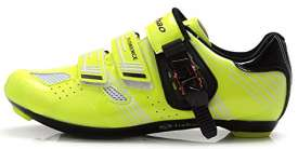 Tiebao Ultralight Road Bicycle Shoes Men Breathable Self-Locking Cycling Green 45