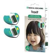 TraxIt 12 Pack - Fahrenheit - Children's Axillary Thermometer - Continuous Read, Single-Use Pediatric Thermometer