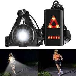 ALOVECO Outdoor Night Running Lights LED Chest Light Back ...