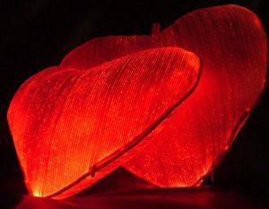 Luminous Fiber Optic Heart Pillow 10