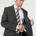 Black Stripe iPod Enabled Suit 1