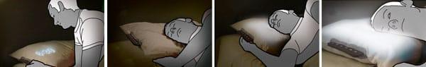glo Pillow Illuminating Alarm Pillow sequence