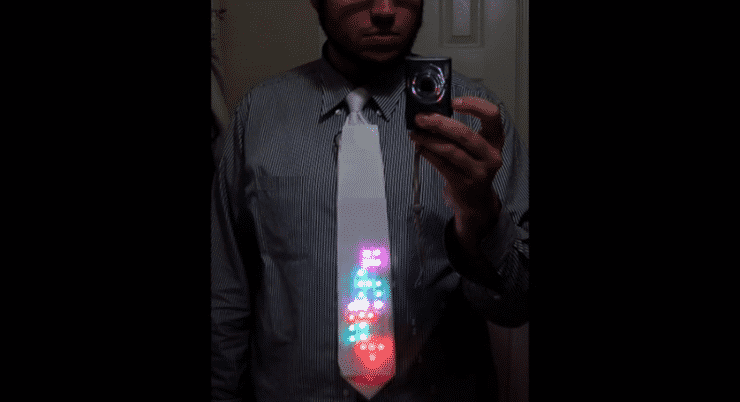 LED Tetris Tie Merges Businesswear and Gaming 1