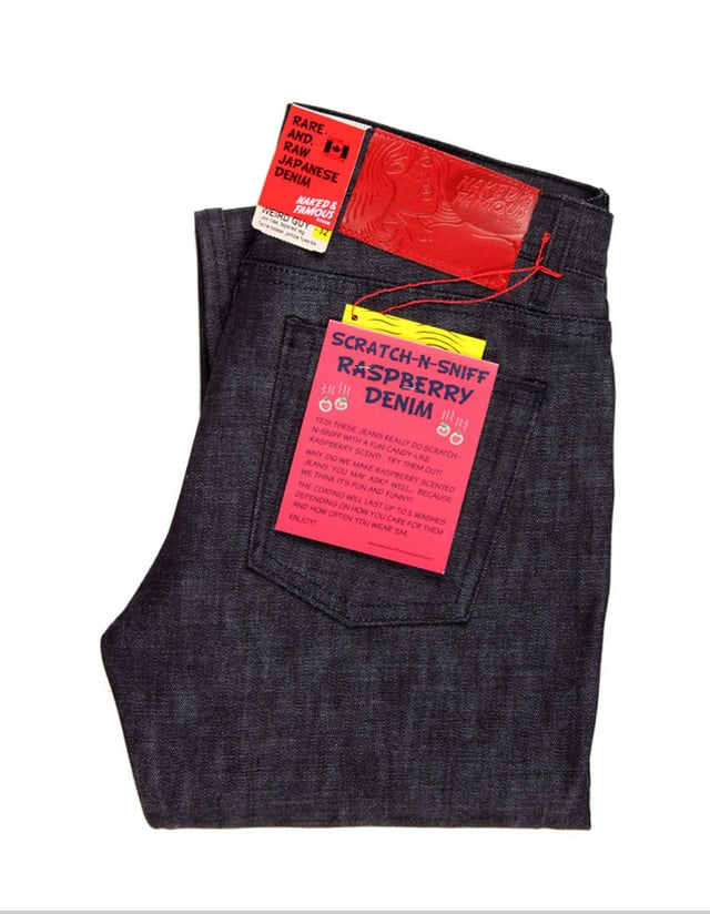 Naked and Famous Unveil a Line of Scratch-n-Sniff Jeans 1