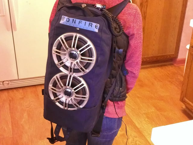 This Backpack Doubles as Some Bumping Speakers 6