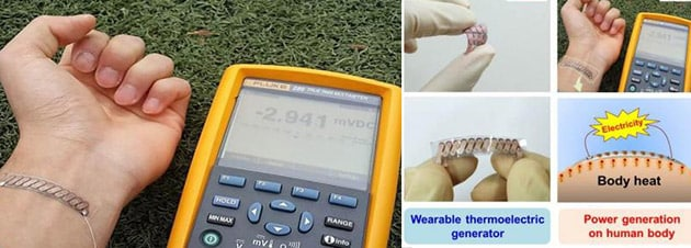 This Generator Uses Body Heat to Charge Wearable Devices 2