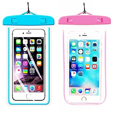 [1Pack Blue+1Pack Pink] Universal Waterproof Phone Case ...
