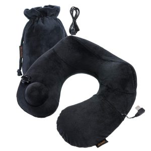 Inflatable Neck Travel Pillow with USB Heater 4