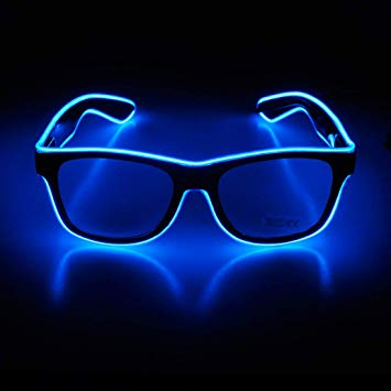 Wire Neon Rave Glasses Glow