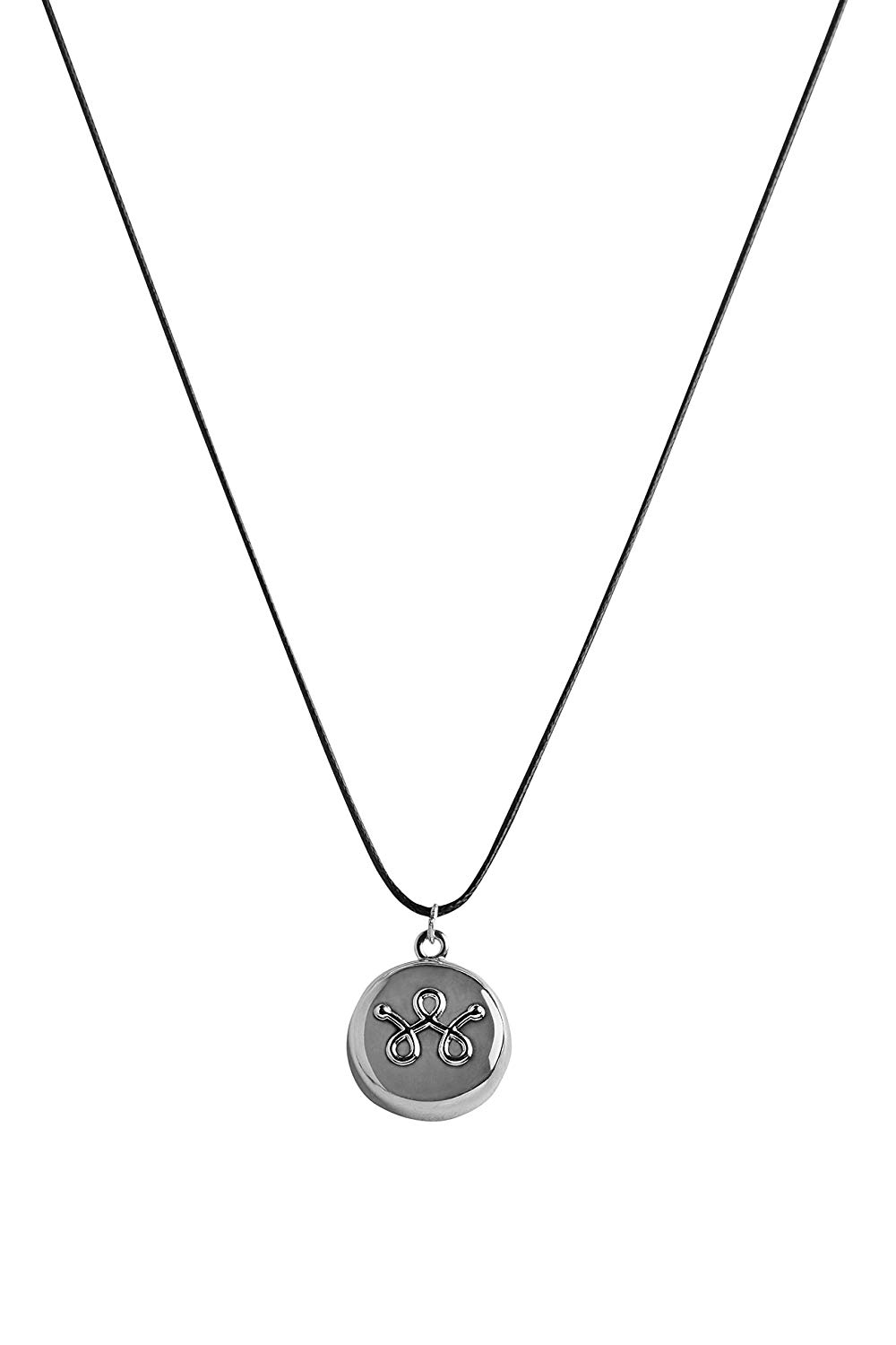 Silver Leather Necklace Personal Safety Device 10