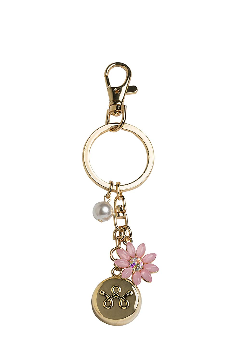invisaWear Smart Jewelry gold flower keyhain