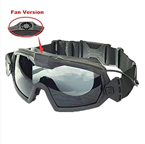 Airsoft Glass Regulator Ski Goggles with Fan