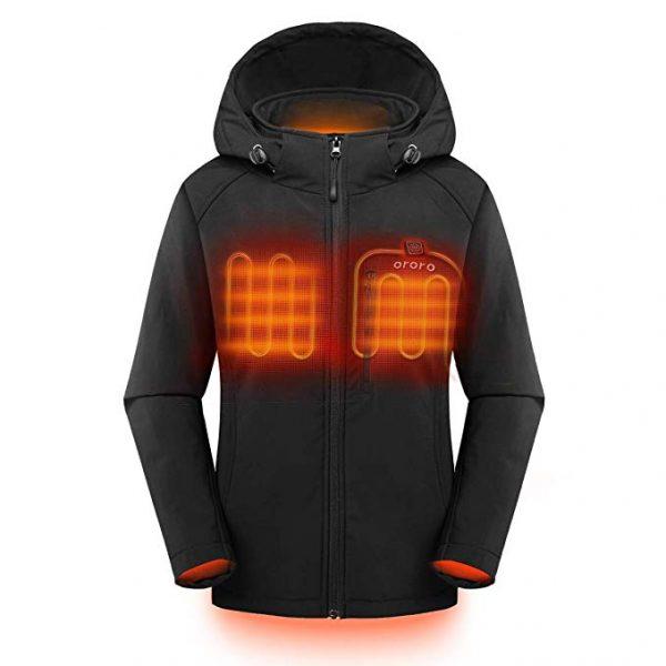 ORORO Women's Slim Fit Heated Jacket w/Hood 3