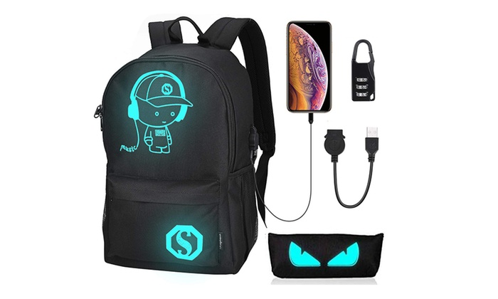 Anime Luminous Backpack with USB Charing Port