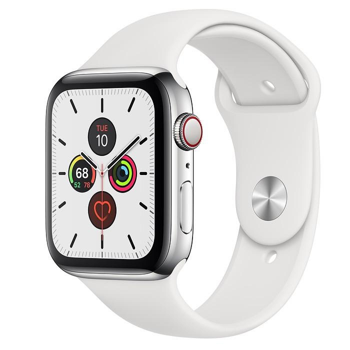 Apple Apple Watch Series 5 GPS + Cellular, 44mm Stainless ...