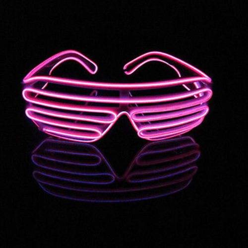 Cool El Wire Neon LED Festival Light Up Glow Sunglasses ...