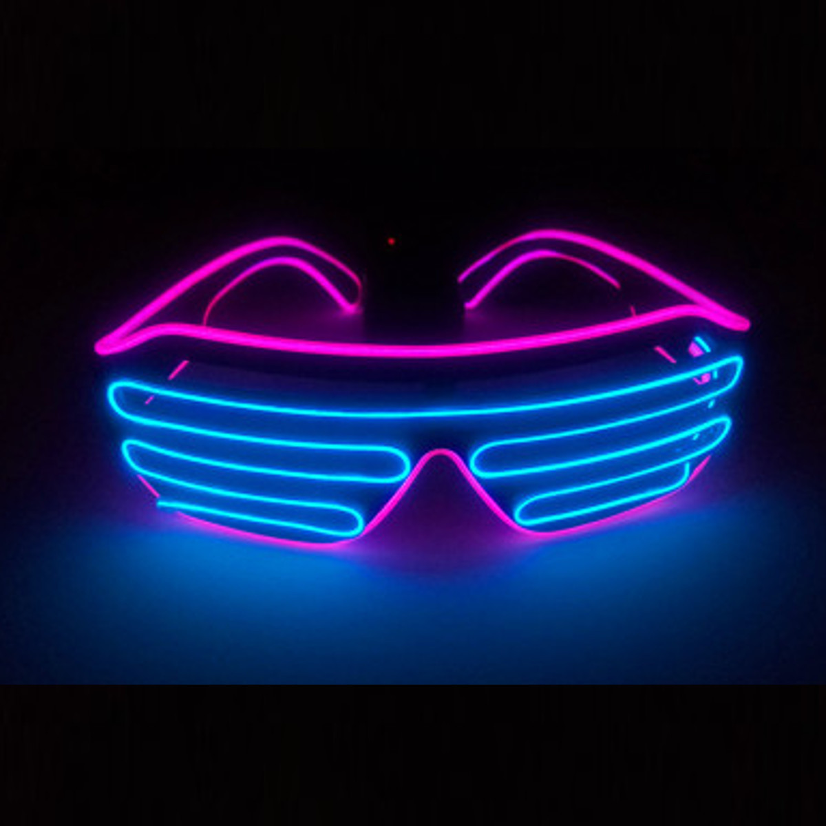 El Wire Neon LED Sound Control Light Up Glow Sunglasses ...