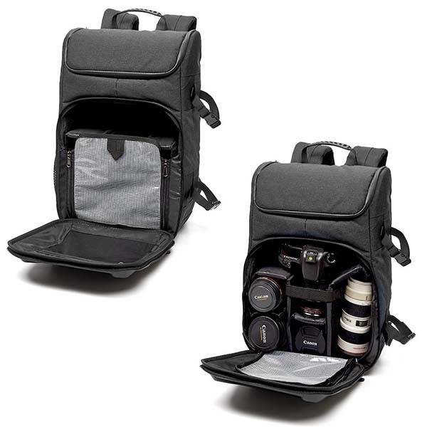 Evecase Shell DSLR Camera Backpack with Rain Cover and ...