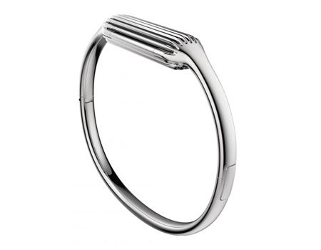 Fitbit Flex 2 Accessory Bangle, Silver - Large, FB161MBSRL ...