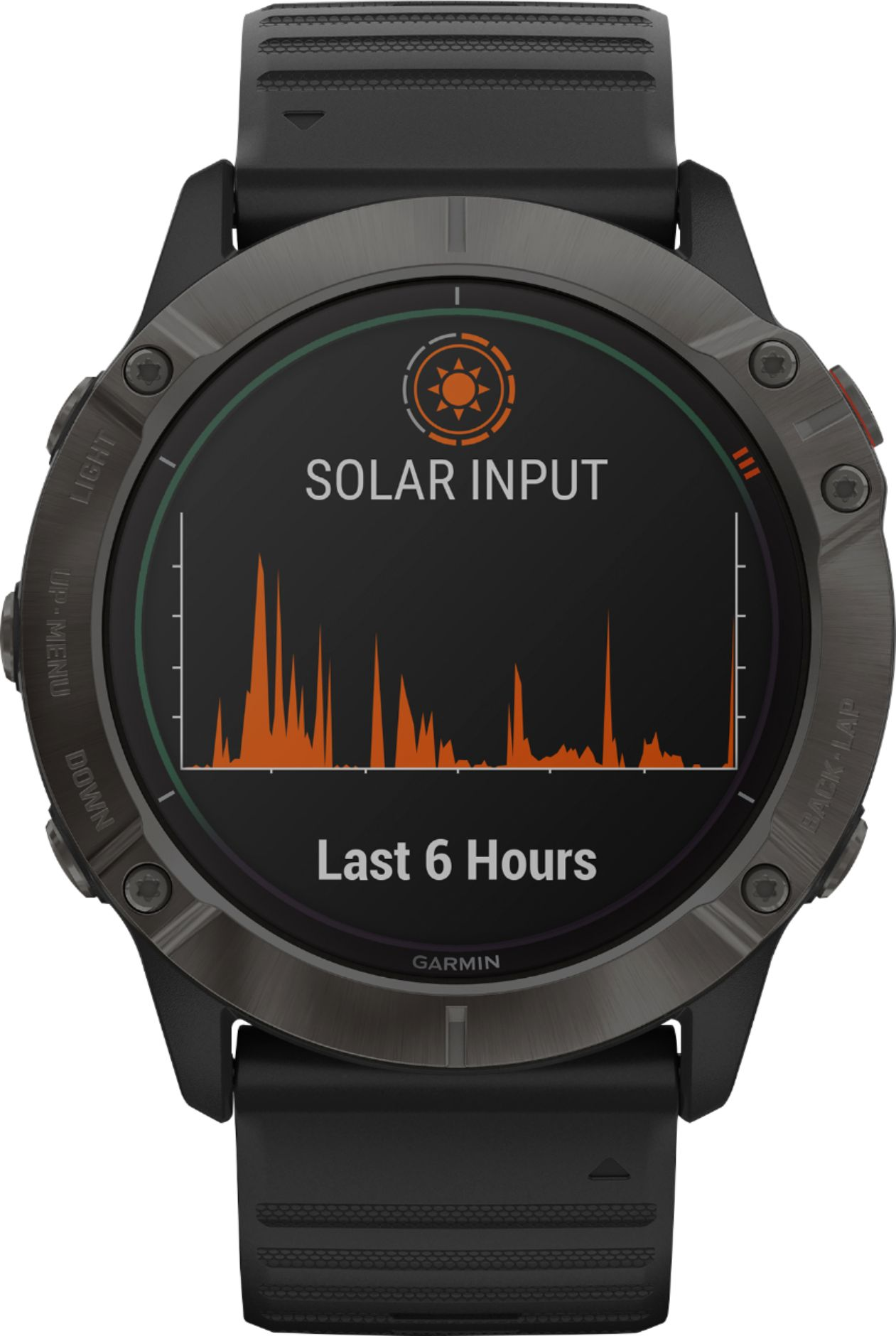 Garmin - Fenix 6X Pro Solar GPS/GLONASS/Galileo Watch - Black