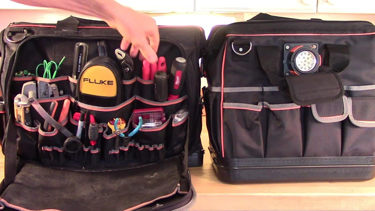 Klein Pro Ultimate vs Klein Pro Lighted Tool Bags ...