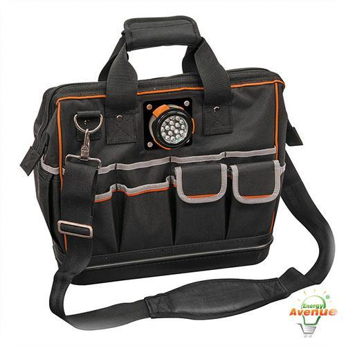 Klein Tools 31 Pockets Tradesman Pro Organizer Lighted ...