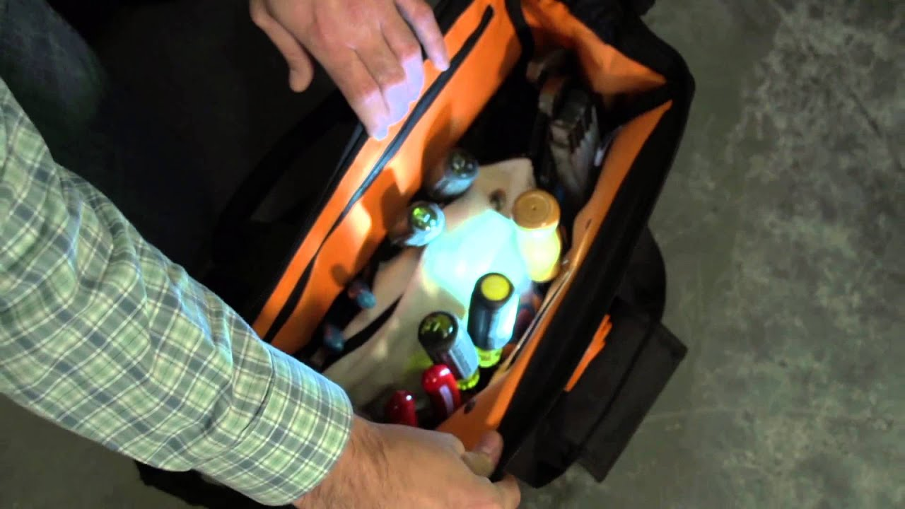 Klein Tools Lighted Tool Bag - IBEW Hour Power - YouTube