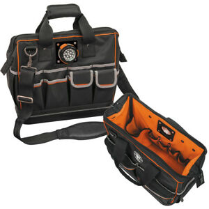 Klein Tools Tradesman Pro Organizer Lighted Tool Bag ...