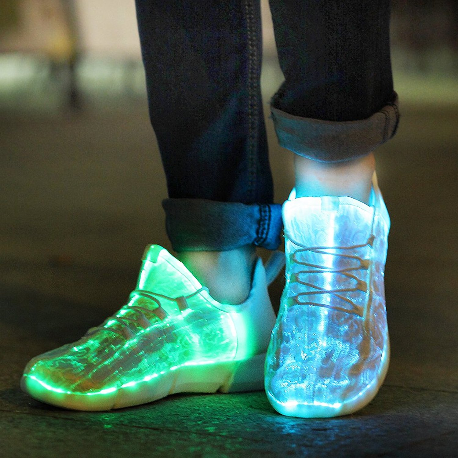KRIATIV Luminous Sneakers Glowing Light Up Shoes for Kids ...