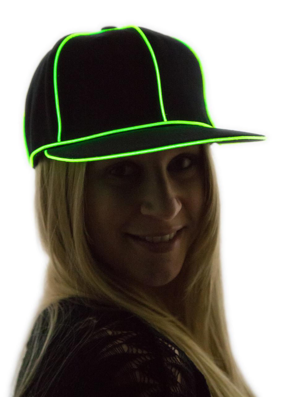 Light Up Snapback Hat (1W) - Neon Nightlife