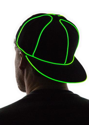Light Up Snapback Hat - Neon Nightlife
